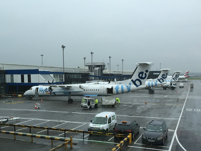 Flybe planes at airport