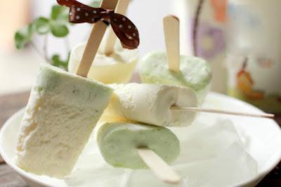 hình ảnh kem cốm dừa
