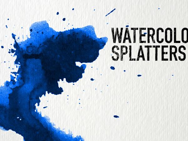 Download 32 Watercolor Splatter Texture Free