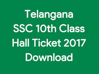 TS 10th Class Hall Ticket 2017