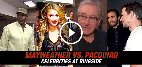 Celebrities at Pacquiao vs. Mayweather Fight (PHOTOS)