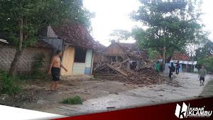 Puting Beliung Terjang Katekan Brati, 1 Rumah dan Pangkalang Ojek Roboh