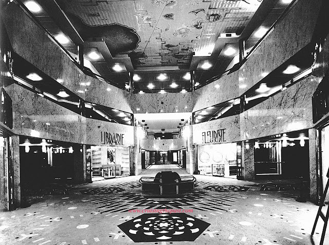 a 1931 cruise ship interior mall photograph