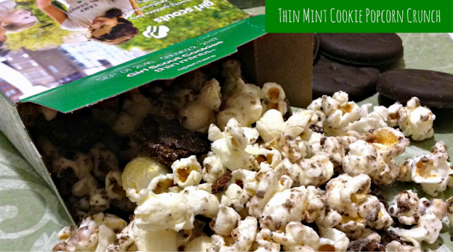 Girl Scouts Thin Mints Cookie Popcorn Munch #recipe