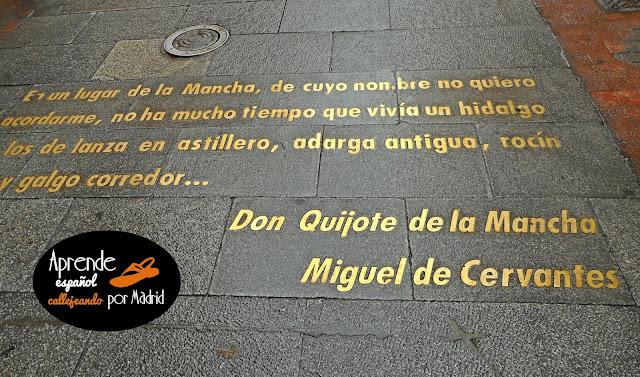comienzo del Quijote en el suelo de Madrid