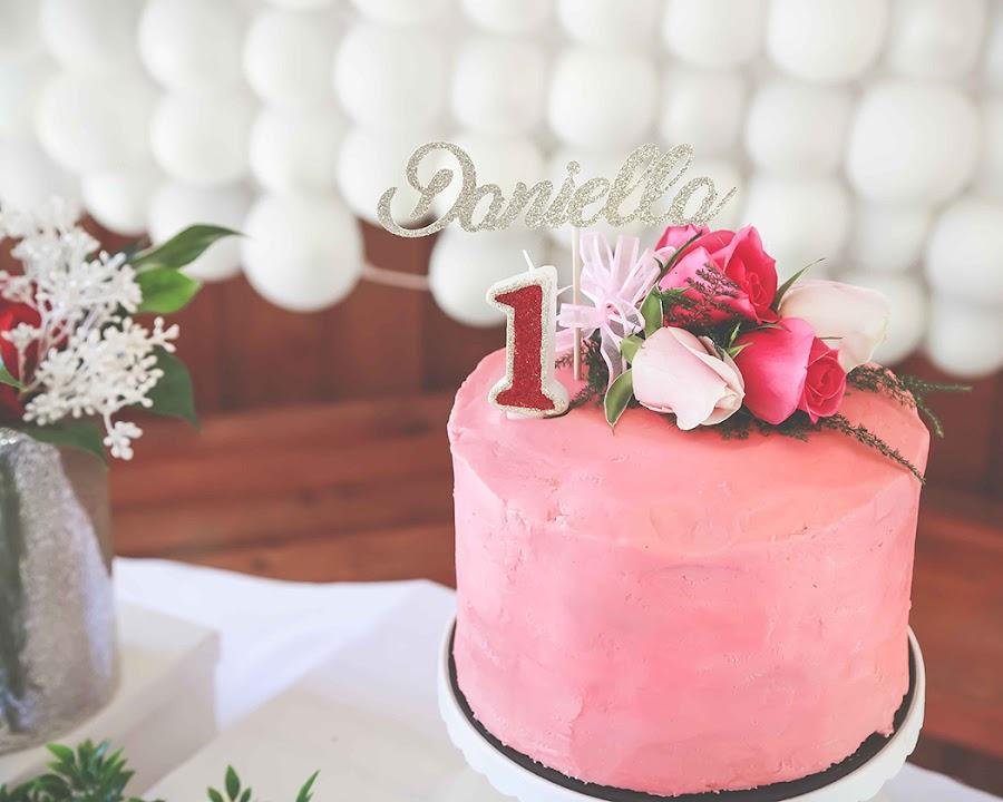 Torta Naked cake rosada