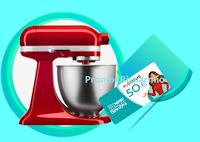 Logo Concorso ''Buona La Vita 2019'' vinci gratis 180 Gift Card da 50€ e 3 KitchenAid Mini Blu Notte