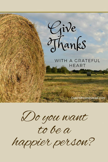 Studies show that thankful people are healthier, happier people.