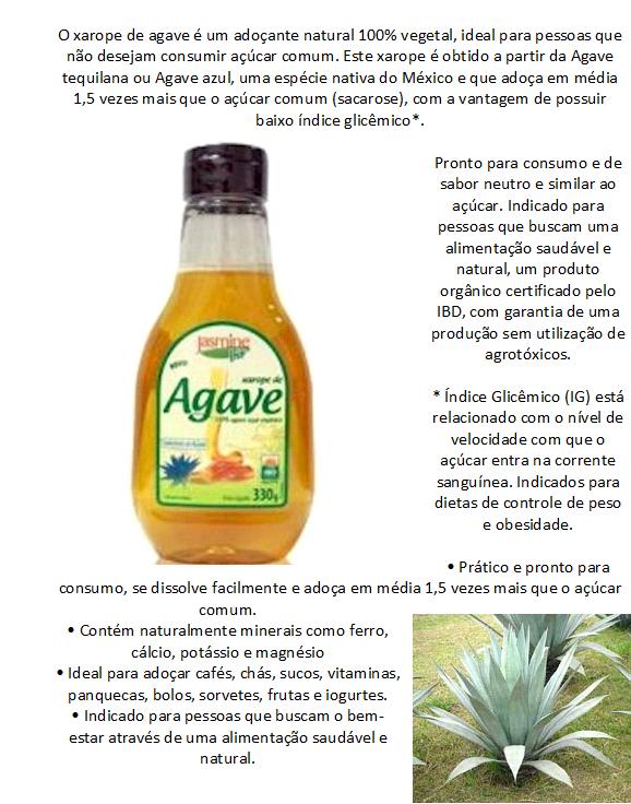 xarope de agave indice glicemico