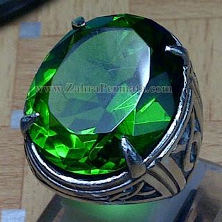 Cincin Batu Permata Green Tektite - ZP 920