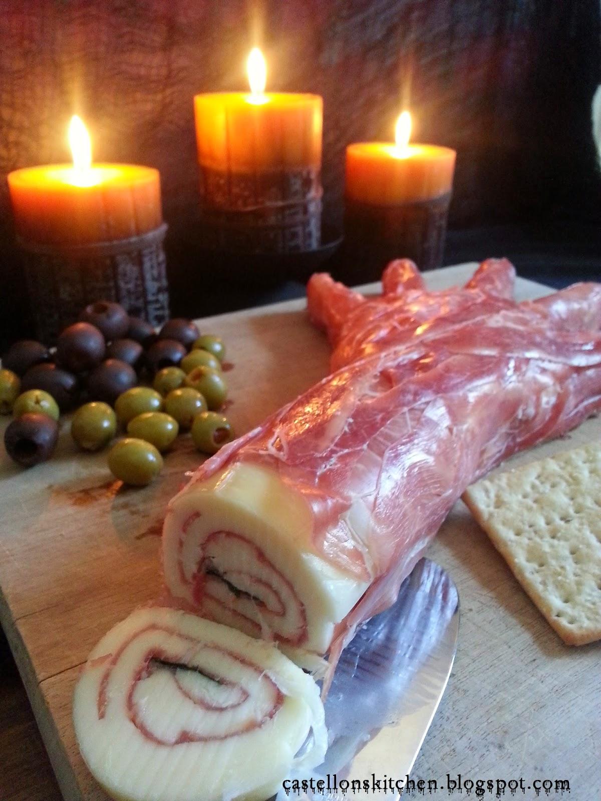 castellon's kitchen: amputated appetizer- three cheeses in prosciutto
