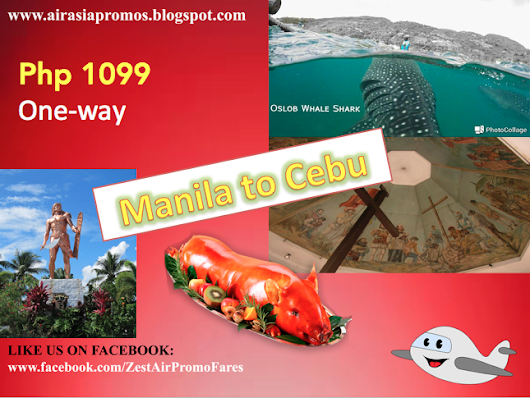 Promo Fare Manila to Cebu