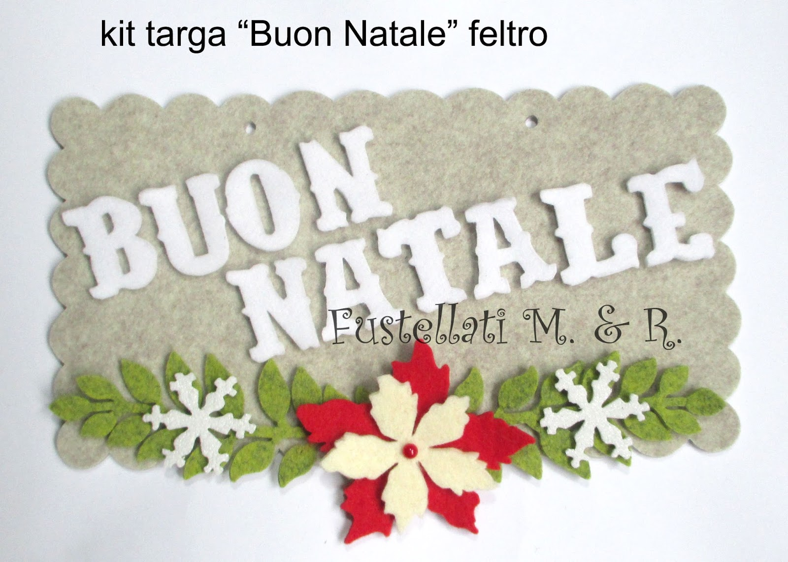 "abbastanza Targa feltro ""Buon Natale"" fai da te, idea regalo o mercatini  TS39"