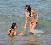 Priyanka Chopra in White Green Bikini in Miami Day 4   Stunning Beauty ~  Exclusive 16.jpg