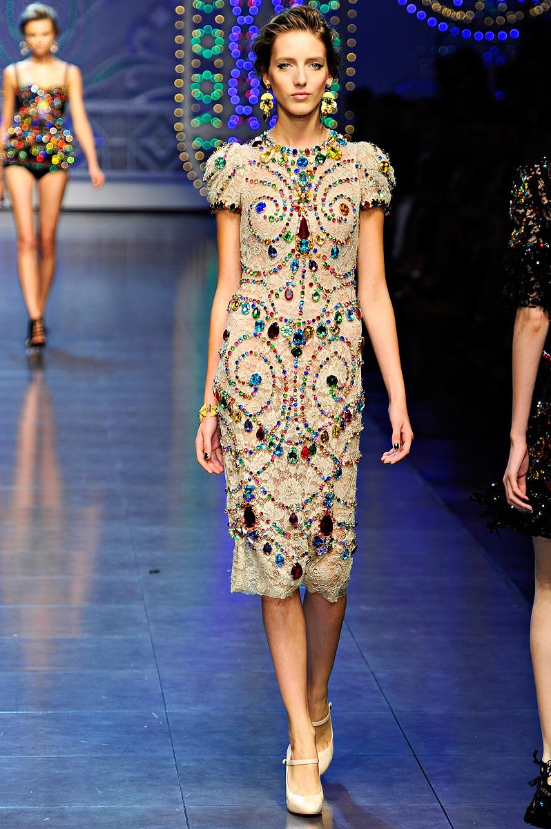 Things Lovely Dolce Amp Gabbana Spring Summer 2012 Milan