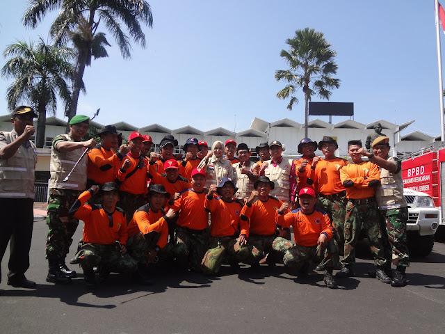 Apel Siaga Bencana Team Lazismu & KOKAM Jember bersama Bupati dan FORPIMDA Jember
