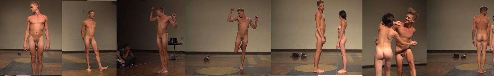naked hunk dancing on stage