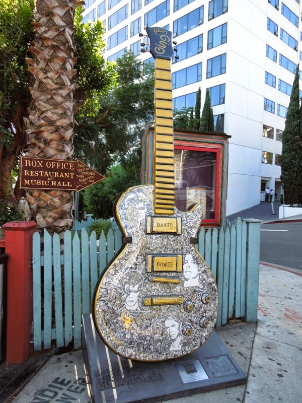 David Bowie GuitarTown tribute Sunset Strip