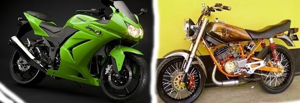 Yamaha RX King Cobra vs Ninja 250
