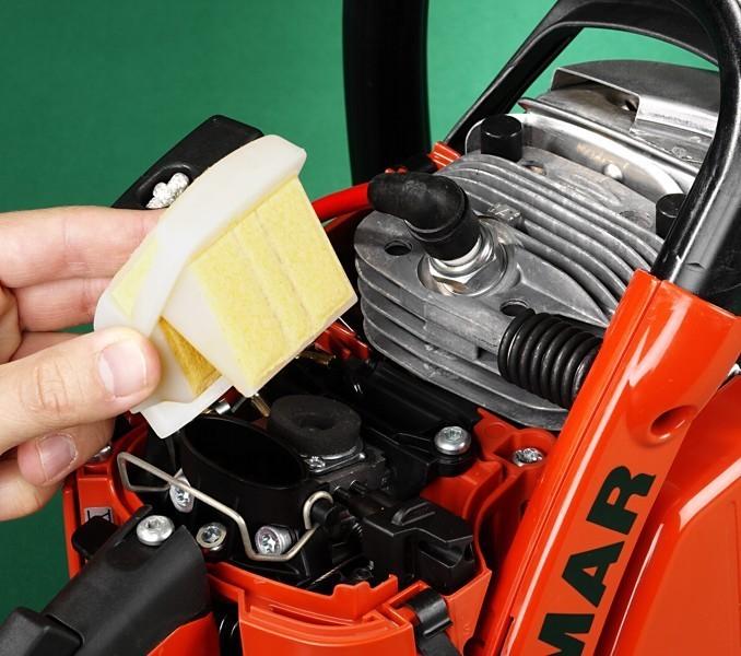 údržba kosačky - výmena palivového a vzduchového filtra