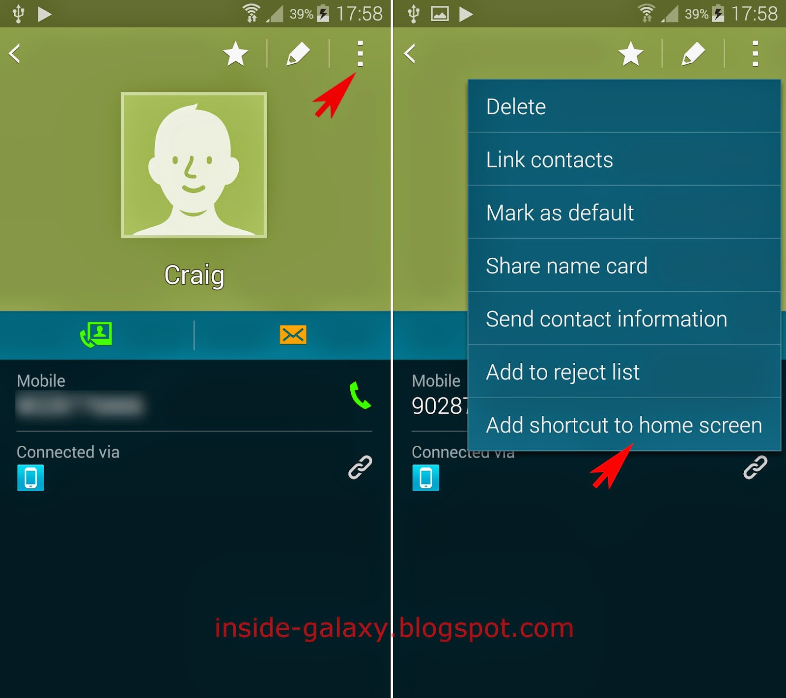 Samsung Galaxy S5: How to Add a Contact Shortcut to Home