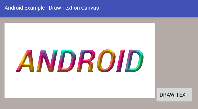 canvas color android how to draw text on a canvas