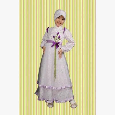 Baju Brokat Muslim Anak Perempuan