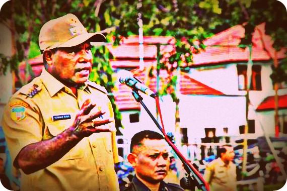 Yermias Bisai Akan Buka Rahasia APBD 2017 Kabupaten Waropen