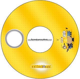 Etiquetas de Película de los Minions para CD's.
