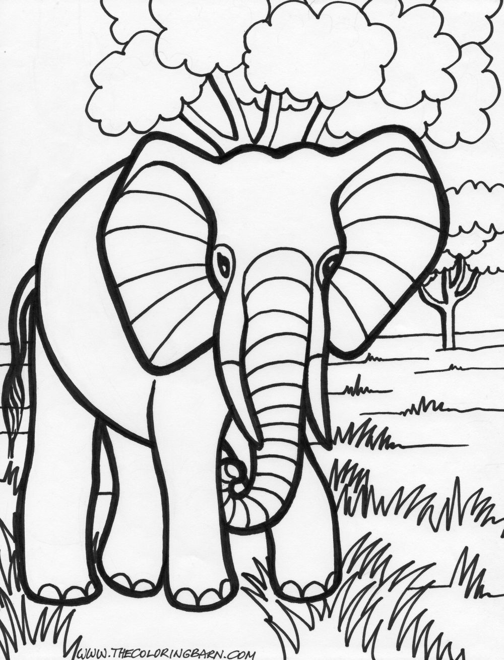 transmissionpress: 14 Elephant Coloring Pages for Kids