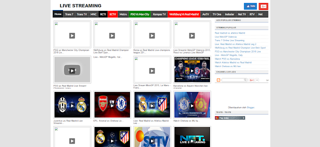 TV Online Blogger Templates Free Unduh :D
