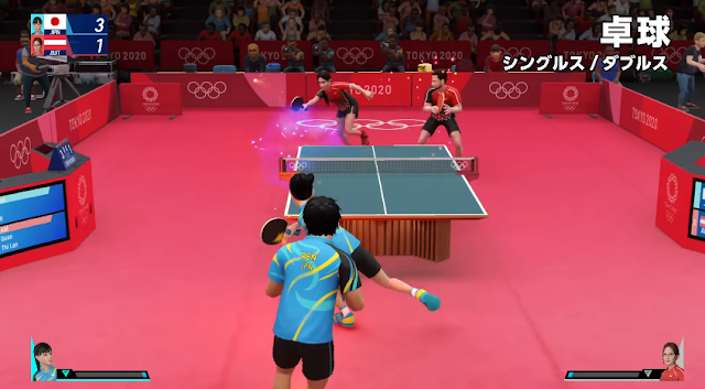 Olympic Games Tokyo 2020 - The Official Video Game table tennis gameplay