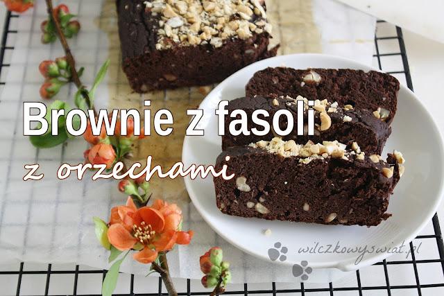 Brownie z fasoli z orzechami
