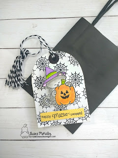 Newton's Halloween Tag  by Diane Morales| Newton's Perfect Pumpkin Stamp Set by Newton's Nook Designs