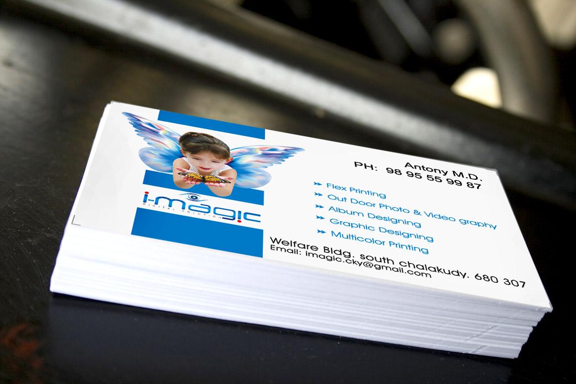 I-Magic Chalakudy: Visiting Card [Business Card] Designing & PrintingI