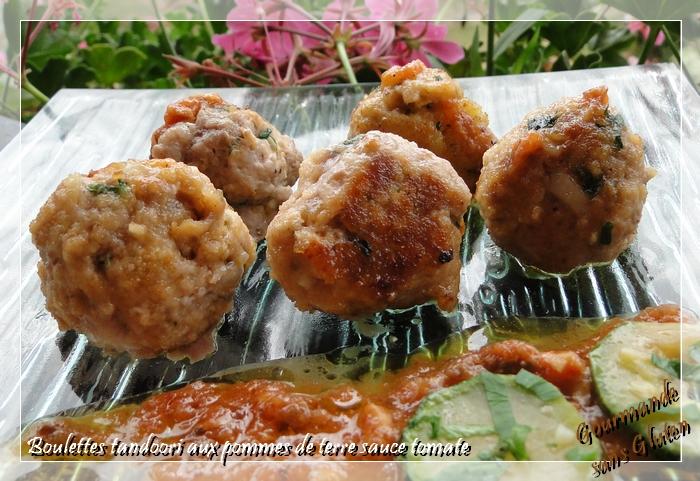 gourmande sans gluten boulettes de viande tandoori aux pommes de terre. Black Bedroom Furniture Sets. Home Design Ideas