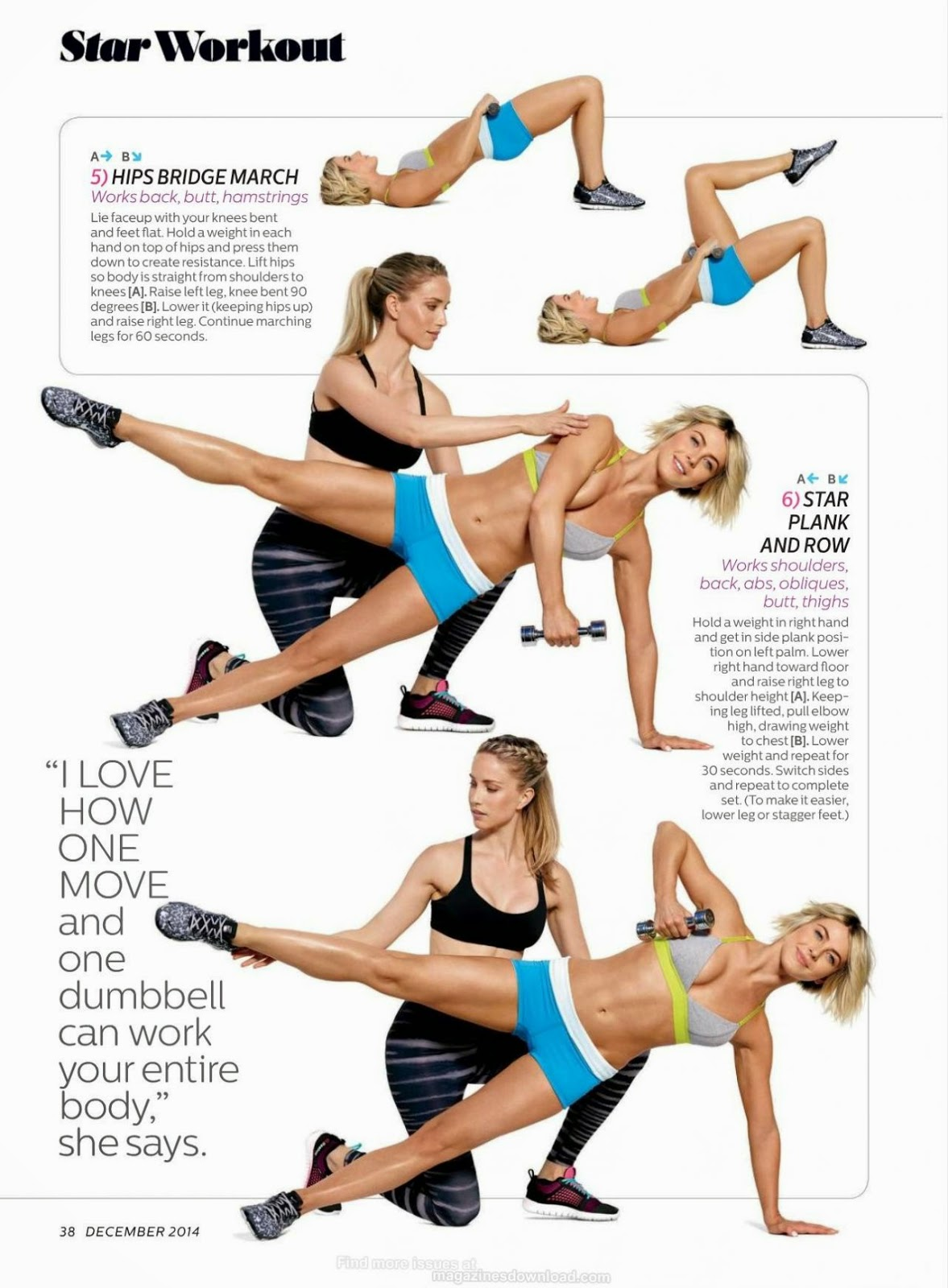 Julianne Hough – Shape Magazine December 2014 Issue