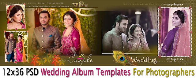 12x36 Psd Wedding Album Templates For Photographers Download Download Vector Stock 2019