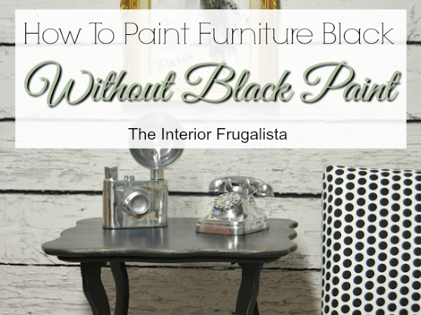 How I Painted A Handcrafted Table Black Without Black Paint