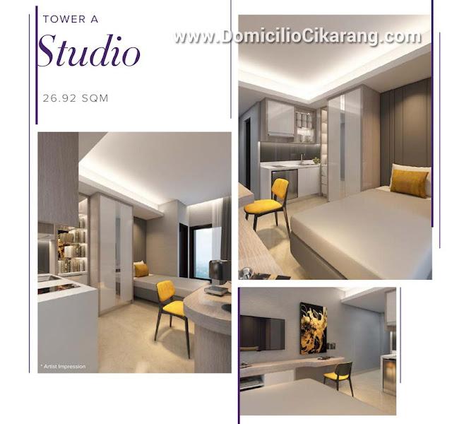 Interior Design Apartemen Studio Domicilio Cikarang