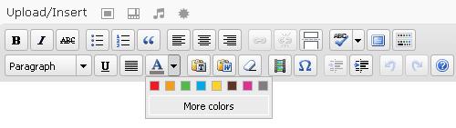 Change Default Color Palette In WordPress