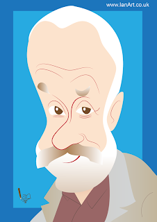 Mike Leigh Caricature by IDB