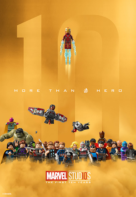 Marvel Studios: The First Ten Years LEGO One Sheet Movie Poster