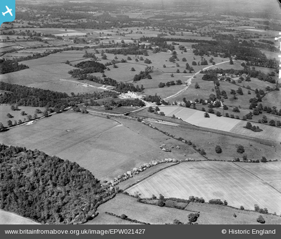 Photograph of Countryside around Brookmans Avenue, Brookmans Park, 1928 Original Britain From Above captio