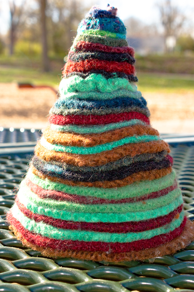 Craft Knife: Felted Wool Sweater Christmas Trees