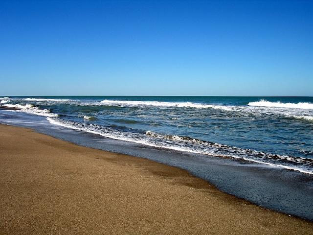 Praia Cariló na Argentina