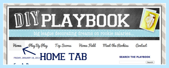 This is where the DIY Playbook home tab is located.