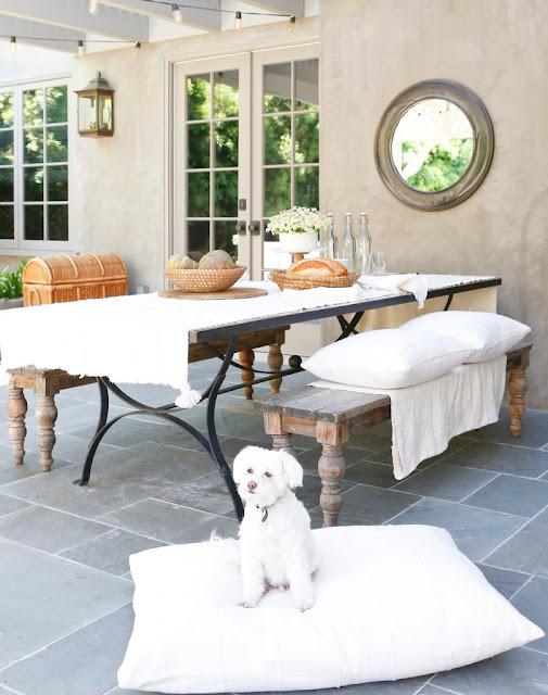Erin Fetherston's gorgeous all white California farmhouse with inspiring decor on Hello Lovely Studio