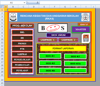 Aplikasi RKAS Terbaru 2017 Format Excel Lengkap SD SMP SMA
