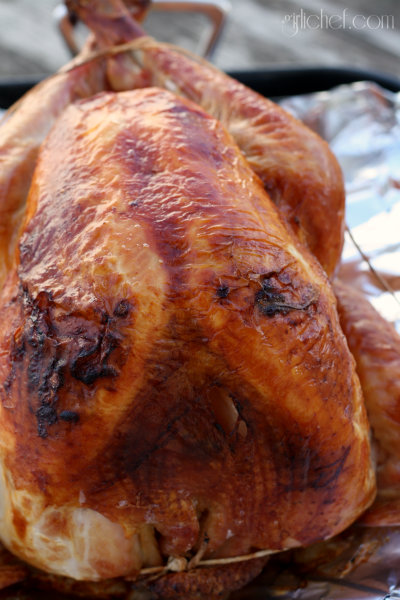 Roast Crispy-Skin Turkey w/ Citrus Herb Brine #Thanksgiving #turkey